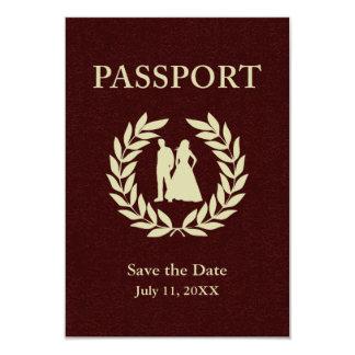 salvar o passaporte do casamento da data convite 8.89 x 12.7cm
