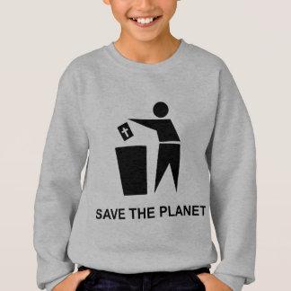 Salvar o planeta - bíblia no lixo agasalho