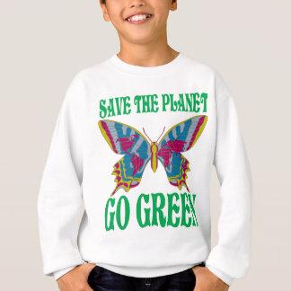 Salvar o planeta vão verde tshirt