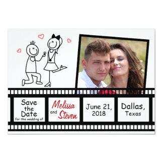 Salvar o projeto do convite do casamento da data