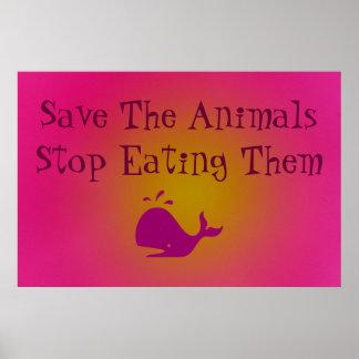 Salvar os animais posters