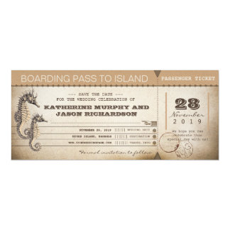 salvar os bilhetes da passagem de embarque do convite 10.16 x 23.49cm