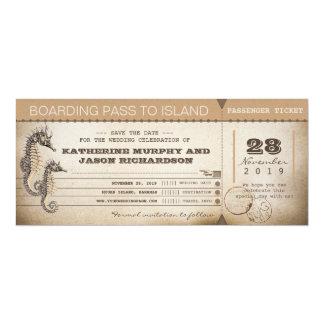 """salvar os bilhetes da passagem de embarque do convite 10.16"""" x 23.49cm"""