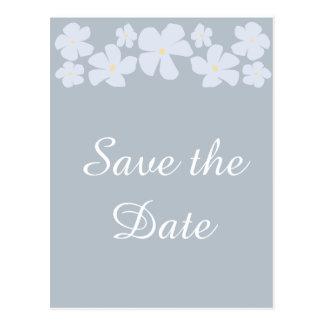 Salvar os cartão cinzentos do casamento do jasmim cartão postal