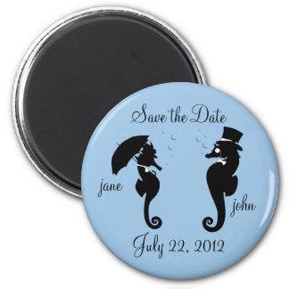 Salvar os cavalos marinhos da data que Wedding o Ímã Redondo 5.08cm
