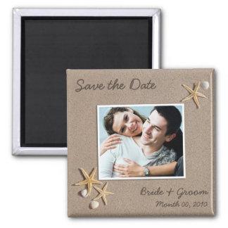 Salvar os ímãs da foto da data ímã quadrado