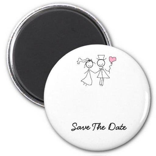 Salvar os ímãs do casamento da data imã de geladeira