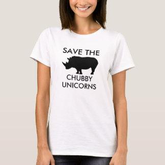 Salvar os unicórnios carnudos camisetas
