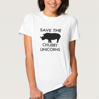 Salvar os unicórnios carnudos tshirt