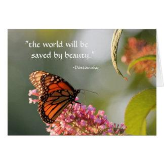 salvar pela beleza… cartão comemorativo