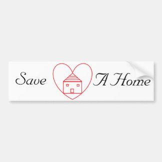 Salvar uma casa adesivo para carro