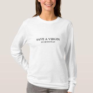 Salvar uma virgem - faça-me pelo contrário (texto t-shirts