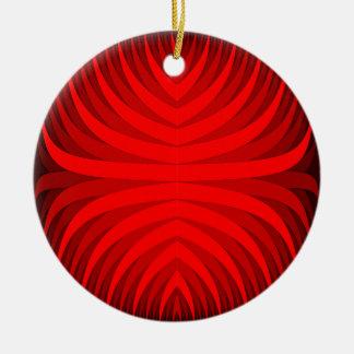 samambaia do fogo ornamento de cerâmica redondo