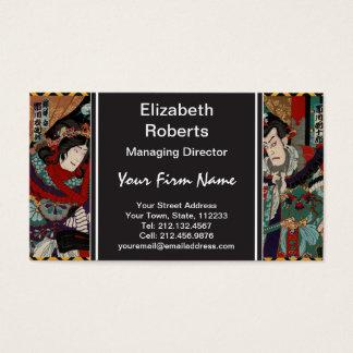 Samurai japonês cartão de visitas