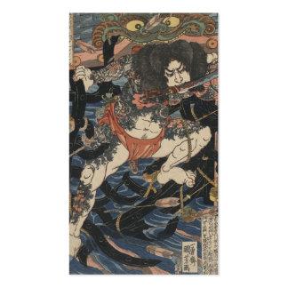 Samurai Tattooed cerca dos 1800s Cartão De Visita