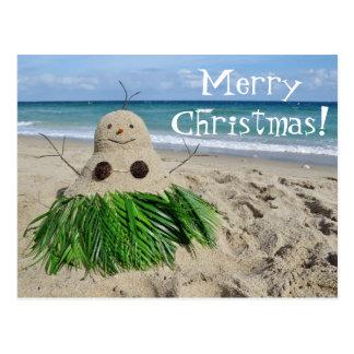 Sandman do boneco de neve de Mele Kalikimaka do Na Cartão Postal