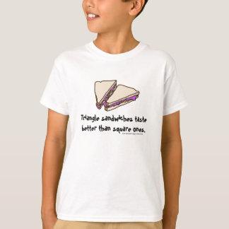 Sanduíches do triângulo t-shirts