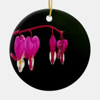 Sangramento-coração Ornamento De Cerâmica Redondo