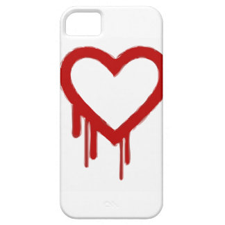 Sangramento do coração capa barely there para iPhone 5