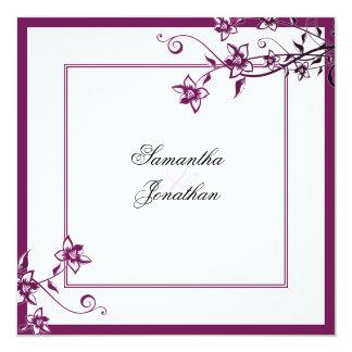 Sangria do convite do casamento & floral elegante