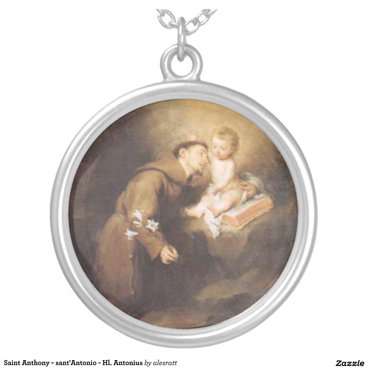 Santo anthony sant 39 antonio hl antonius pingentes zazzle for 4 designhotel anthony s