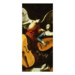 Santo Cecilia e o anjo por Carlo Saraceni Planfetos Informativos Coloridos