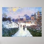 Santo Denis Argenteuil do bulevar por Claude Monet Pôsteres