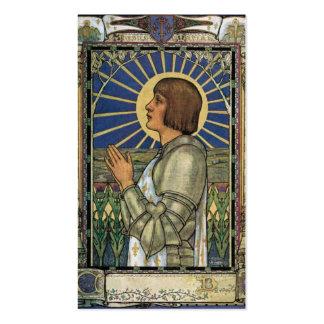 Santo Joana da imagem do vitral do arco Cartão De Visita