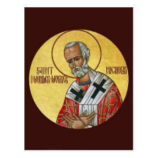 Santo Nicholas o cartão da oração do