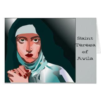 Santo Theresa Cartão Comemorativo