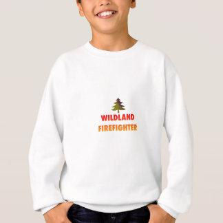 Sapador-bombeiro do Wildland com árvore T-shirt