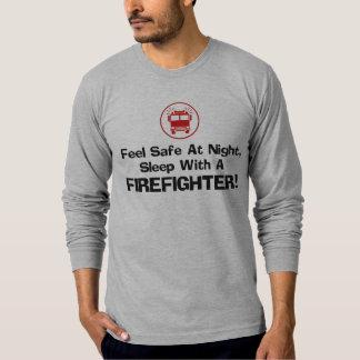 Sapador-bombeiro engraçado t-shirts