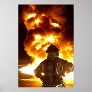Sapador-bombeiro militar pôsteres