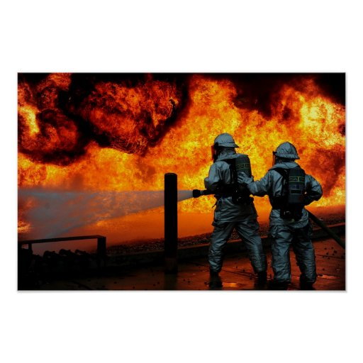 Sapadores-bombeiros militares pôsteres