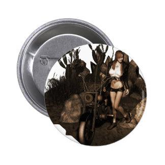 Sara no deserto - foto velha botons