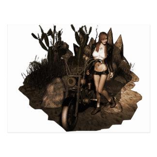 Sara no deserto - foto velha cartao postal