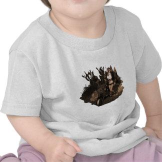 Sara no deserto - foto velha camiseta