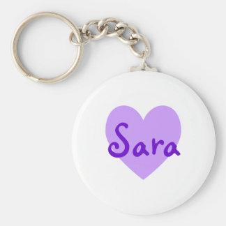 Sara no roxo chaveiro