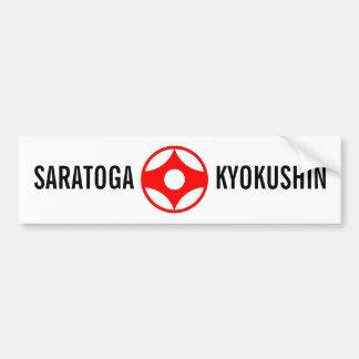 SARATOGA KYOKUSHIN BUMPERSTICKER ADESIVO PARA CARRO