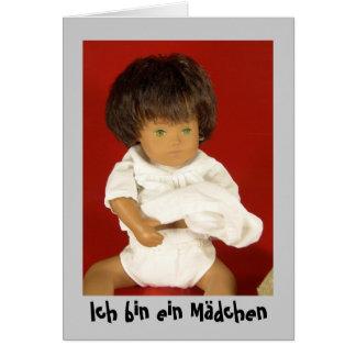 Sasha bebé denúncia de nascimento cartão