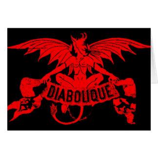 Satã o Dia das Bruxas do diabo vermelho de Cartão Comemorativo