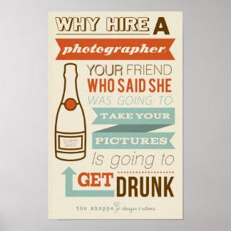 Sátira da loja - humor para fotógrafo poster