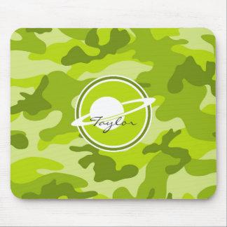 Saturn camo verde-claro camuflagem mousepad