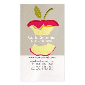 Saúde da perda de peso do nutricionista da cartão de visita