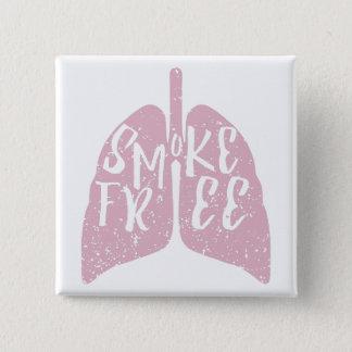 Saúde do pulmão sem fumo bóton quadrado 5.08cm