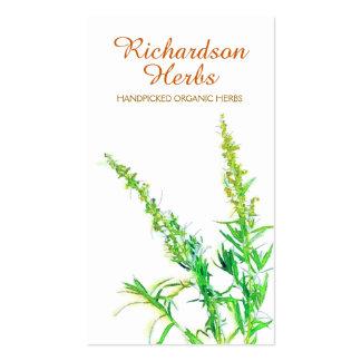 Saúde holística de jardinagem orgânica da erva do cartão de visita