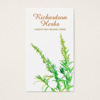 Saúde holística de jardinagem orgânica da erva do cartão de visitas