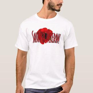 Saude t-shirt de um dia da relembrança do veterano