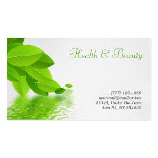saúde, termas e cartão de visita da beleza