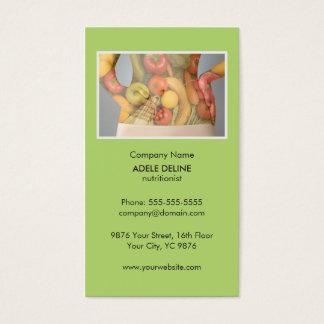Saúde verde original da dieta do nutricionista cartão de visitas